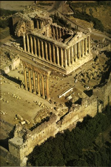 Temple of Bacchus in Baalbeck which was one of the largest sanctuaries in the Roman empire.