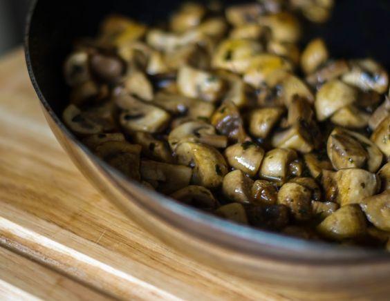 Mmmmm...Mushrooms Vittoria | Carrie's Experimental Kitchen  #mushrooms #sides #vegetarian