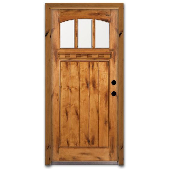 Exterior Door Frame Home Depot: Steves & Sons 36 In. X 80 In. Craftsman 3 Lite Arch