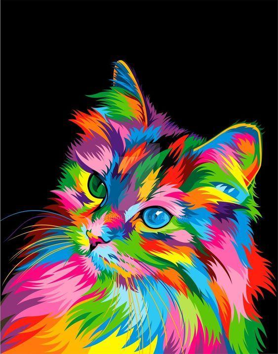 Clic Para Ampliar Cuadros De Animales Gato De Acuarela Pinturas De Gato
