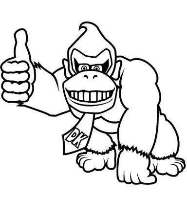 Donkey Kong Para Colorear Children Coloring Mario Coloring