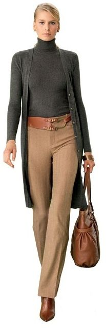 I love this long cardigan! Would look great with jeans or dressed up for the office.