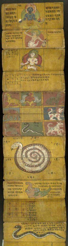 The Nine Hindu Planets Nepal ca. 1900-1925