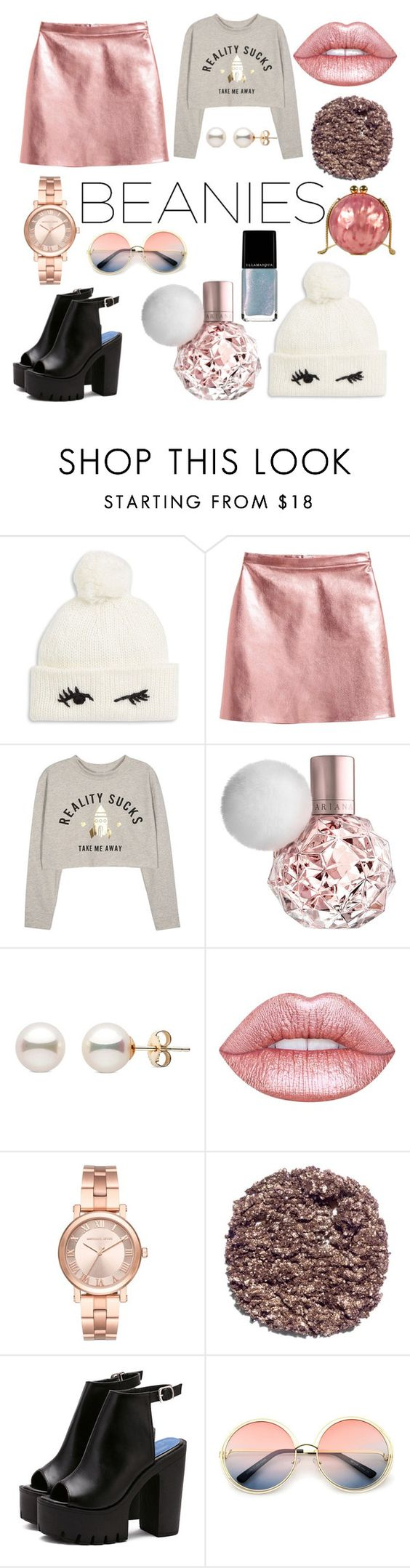 """Untitled #187"" by presidentofunicorns ❤ liked on Polyvore featuring Kate Spade, Lime Crime, Michael Kors, Illamasqua and ZeroUV"