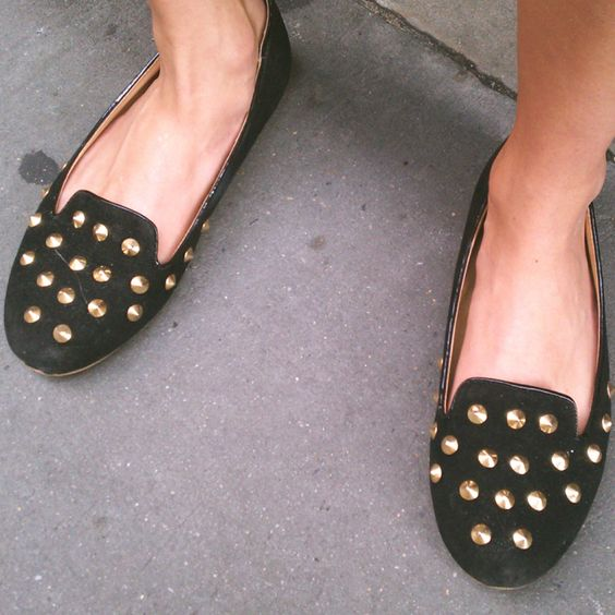 Stylelist's Photographer Shares Outtakes: studded flats