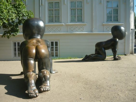 David Cerny's babies Kampa Park Prague