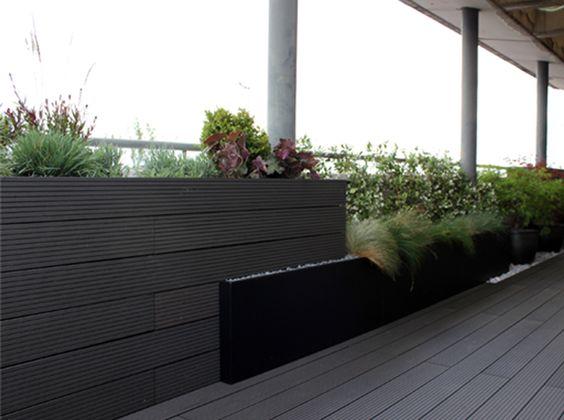 Madera tipo composite en color gris para exterior en - Tipo de madera para exterior ...