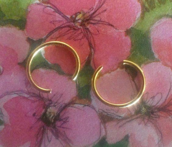 Gold plated unpierced ear cuff set of two