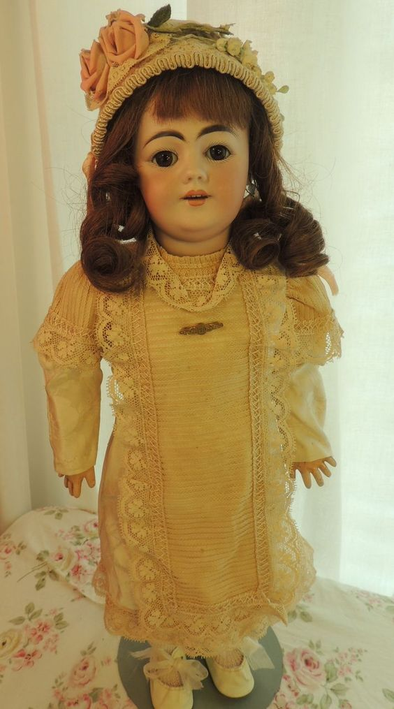 Simon & Halbig #1009 Antique German Bisque Doll, 20 IN