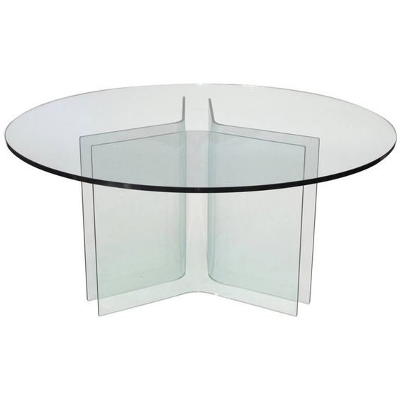 1960s Italian Round Glass Dining Table | From a unique collection of antique and modern dining room tables at https://www.1stdibs.com/furniture/tables/dining-room-tables/