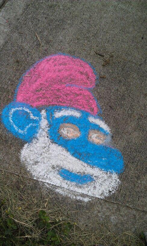 Smurf chalk