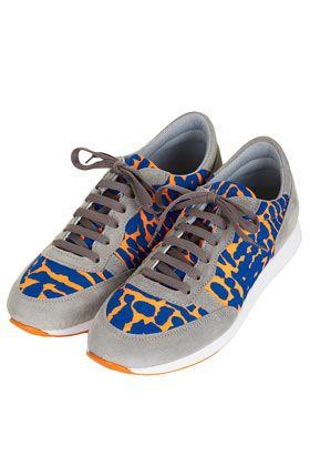 Chaussures de course avec imprimé fluo TECHNO