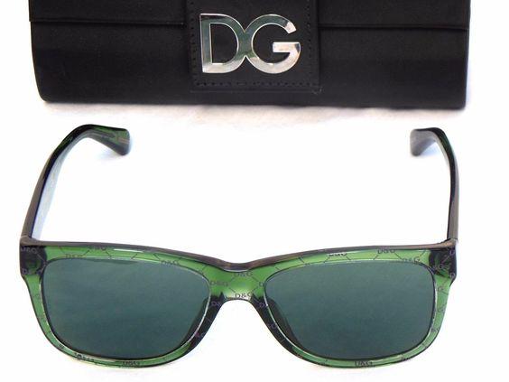 NEW Dolce&Gabbana D&G All Over DG4158P Unisex Green Frame Sunglasses W/Case