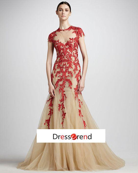 Brautjungfer  Kleider Champagne Brautjungfer  von DressTrend, $299.99