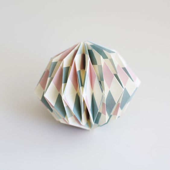 Origami Ball  Harlequin by UpTheWoodenHills on Etsy, kr48.00