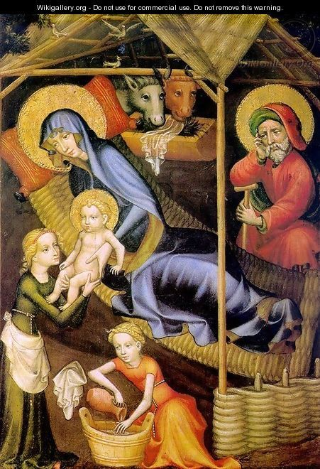 The Nativity c. 1400 - Austrian Unknown Master