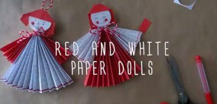 Muñecas de papel.