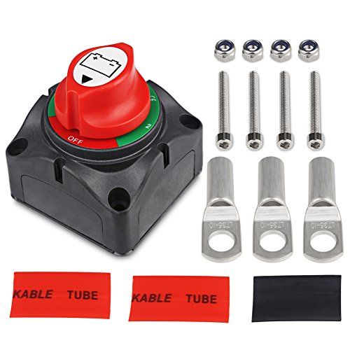Battery Disconnect Switch Master Isolator Switches for Small Yacht Marine Boat RV Car ATV Vehicles