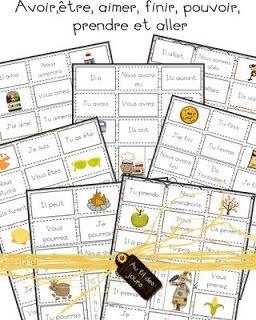 Au fil des jours: Bingo de conjugaison