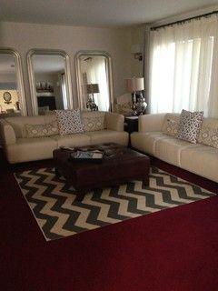How To Dress Up Burgundy Carpet Home Pinterest