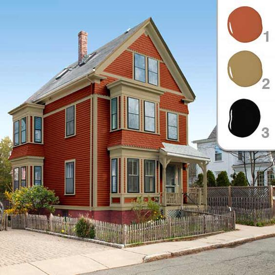 Picking The Perfect Exterior Paint Colors Exterior Colors Paint Colors And Red Color Schemes