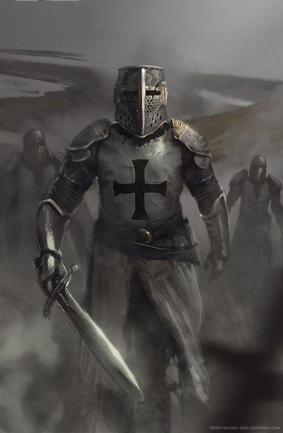 ArtStation - Templar Knight, Pedro Veloso