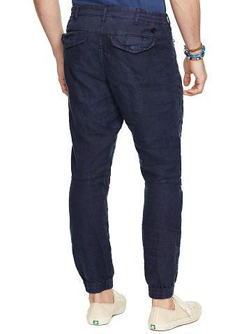 Polo Ralph Lauren Linen-Cotton Jogger Pant - Polo Ralph Lauren Sweatpants - Ralph Lauren France