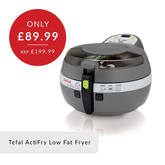 The Tefal Actifry is a revolutionary new fryer that requires only one teaspoon of oil to cook enough chips to feed a family of four with only 3% fat. ActiFry has a patented hot air system and stirring paddle which together ensure excellent all over cooking results. There's no need to shake or stir during cooking, so you will enjoy hands free cooking, not to mention more free time as well, as you wont have to constantly tend to your cooking.