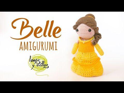Tutorial Princess Belle Amigurumi Crochet Lanas Y Ovillos In English Youtube In 2020 Crochet Princess Princess Diy Amigurumi Patterns