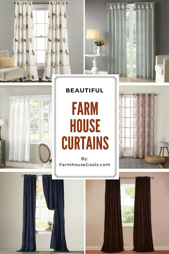 Farmhouse Curtains Rustic Curtains Farmhouse Goals Farmhouse Style Living Room Rustic Curtains Curtains Living Room
