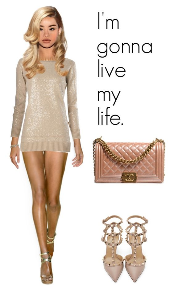 """""""No matter what, we party tonight."""" by hosana-tsarnaev on Polyvore featuring Valentino, Chanel and valentino"""