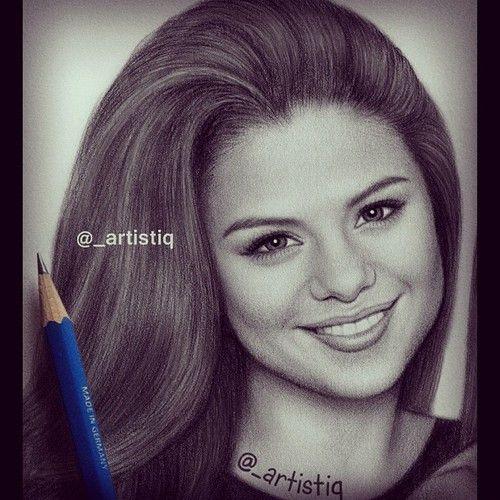 Selena Gomez Drawing | Draw | Pinterest | Drawings, Selena ...