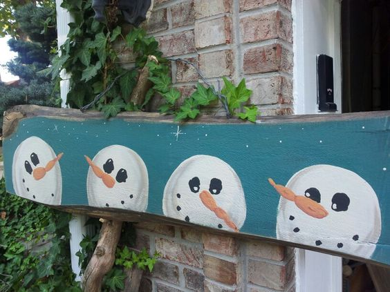 Pinterest the world s catalog of ideas - How to make a snowman out of wood planks ...