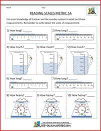scientific measurement worksheets