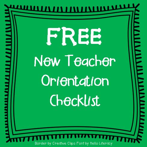 New Teacher Orientation Checklist {FREE}