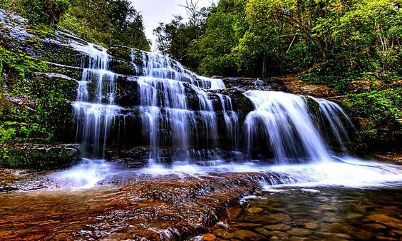 Live Waterfalls Screensavers with Sound | The Living Waterfall, beauty, forest, rocks, waterfall