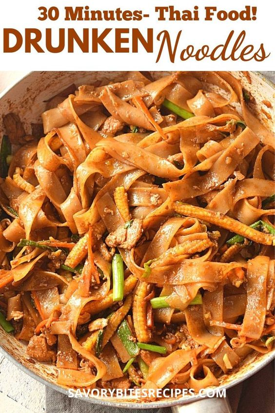 Under 30 mins - Thai Drunken Noodles