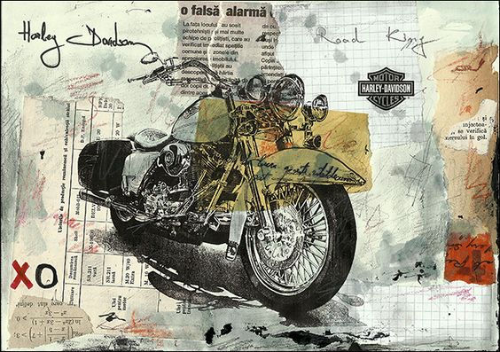 Harley Davidson – Mixed Media collage | ArtsField: