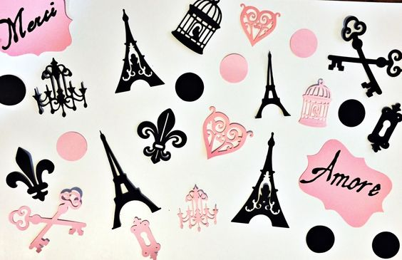 Paris Theme Party Cutouts - Paris Party Decor - Paris Bridal Shower - Paris Baby Shower - Bride to be - Paris Paris Theme Party -Paris Decor by KDODesigns on Etsy