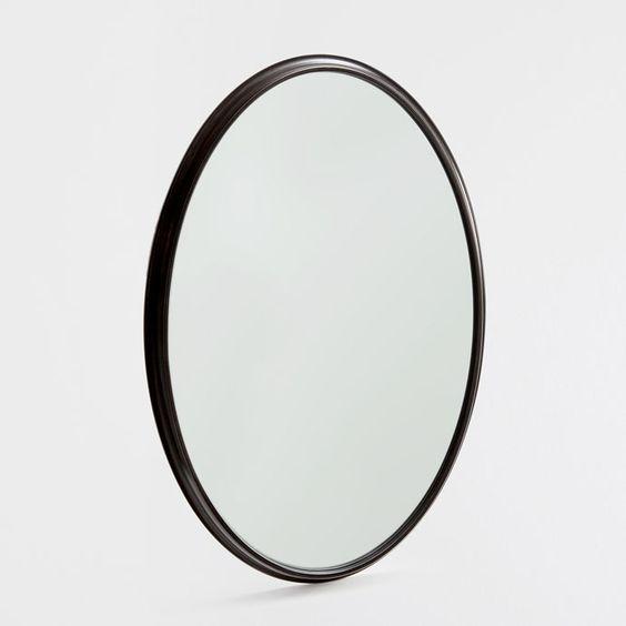 1000 id es sur le th me oval bathroom mirror sur pinterest for Miroir zara home