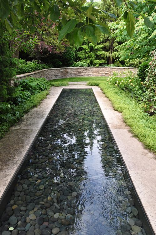 Pinterest the world s catalog of ideas - Rectangle pool with water feature ...