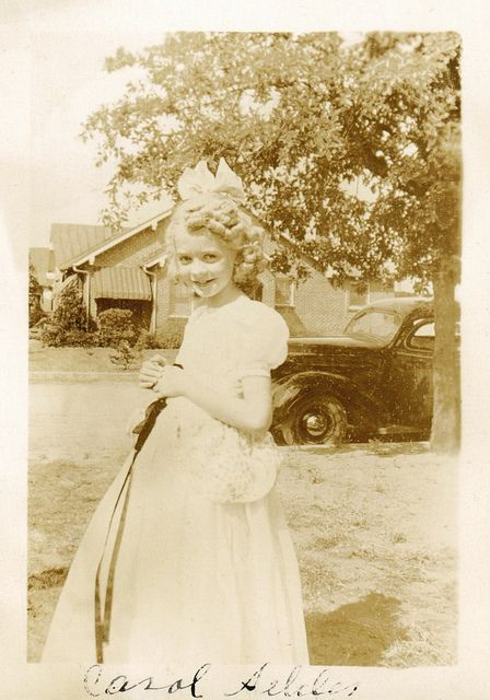 "c. 1949: Original pinner comment: ""Carol with a lot of curls 