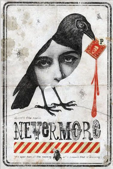Carolina Espinoza Nevermore Illustration inspired by the work of Edgard Allan Poe, The Raven Winner of the Newad Art dIci contest