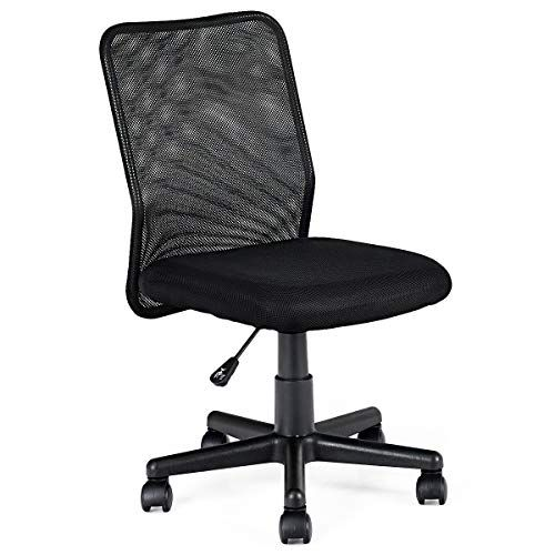 Giantex Mid Back Mesh Office Chair Armless Ergonomic Mesh Chair Swivel Computer Office Desk Task Chair Office Chair Mesh Office Chair Ergonomic Office Chair