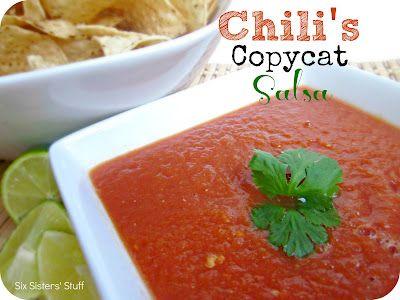Chili's Copycat Salsa Recipe on MyRecipeMagic.com
