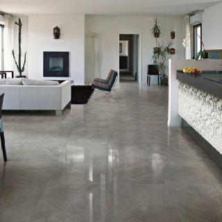Polished Grey Porcelain Tile For The Home Pinterest Grey Tile Flooring