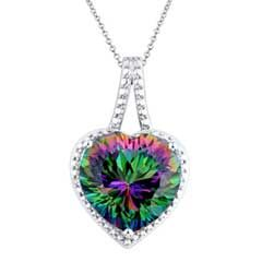 I've tagged a product on Zales: 12.0mm Heart-Shaped Mystic Fire® Topaz and Diamond Accent Pendant in Sterling Silver