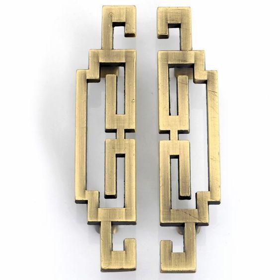 Taobao dream house antique copper antique door handle for Asian furniture hardware drawer pulls