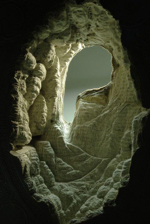 Carved Book Landscapes by artist Guy Laramee - BOOOOOOOM! - CREATE * INSPIRE * COMMUNITY * ART * DESIGN * MUSIC * FILM * PHOTO * PROJECTS