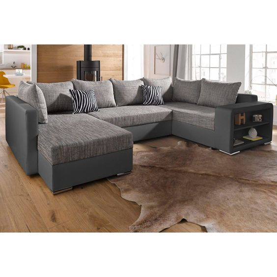 Canap panoramique convertible rev tement synth tique luxe tissu m ridienne r - 3 suisses canape convertible ...